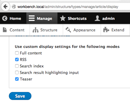 display modes view modes and form modes drupal 8 guide on drupal org