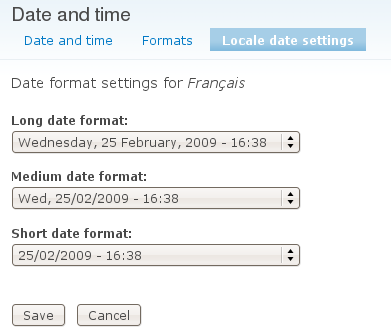 Localize date format form