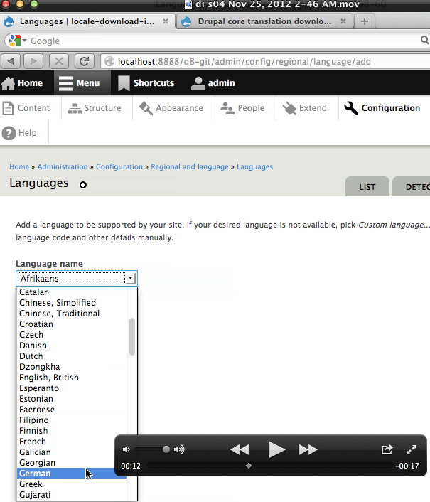 Download and import interface translations [#1804688] | Drupal org