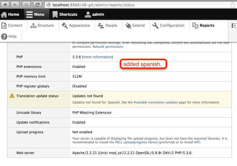 Display interface translation status [#1804702]   Drupal.org