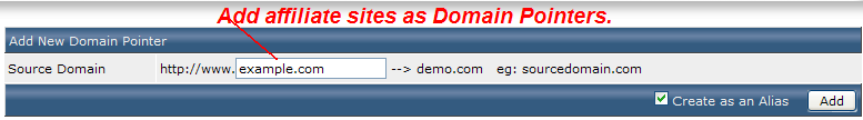 Adding top level domains to Direct Admin