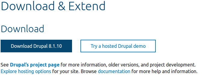 3 6  Downloading the Core Software Manually | Drupal 8 User