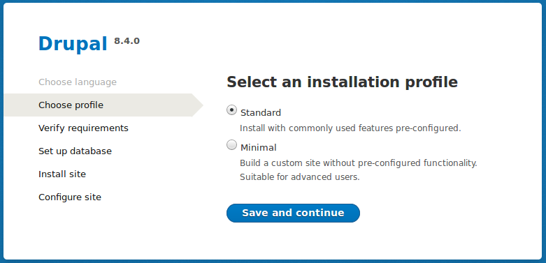 3 7  Running the Interactive Installer | Drupal 8 User Guide guide