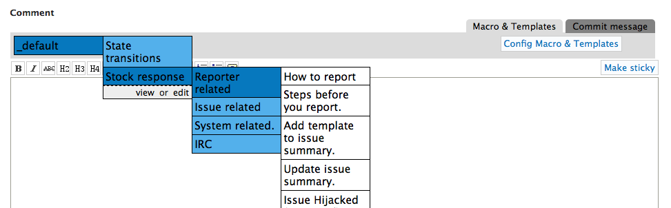 drupal issue templates