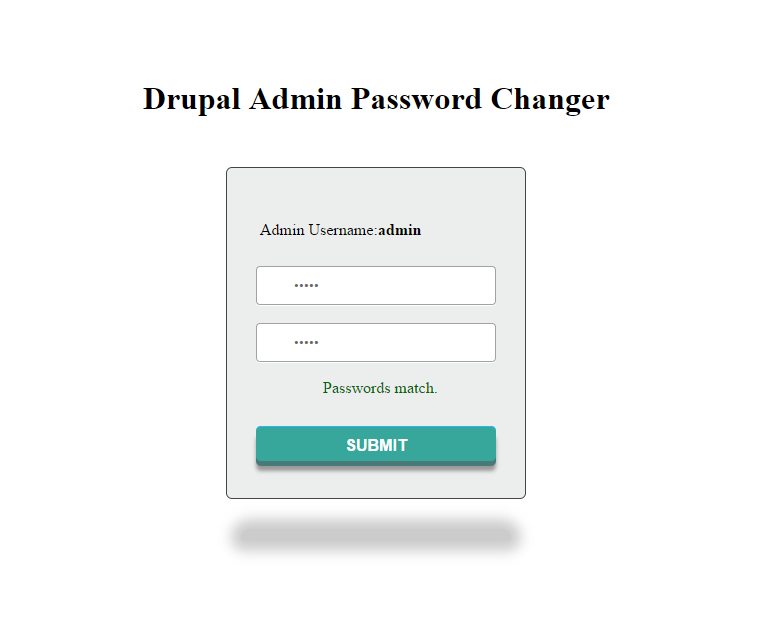 Resetting the administrator password with a PHP file (Drupal7
