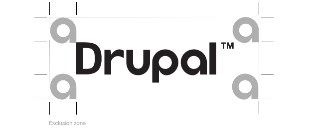 Drupal wordmark exclusion zone