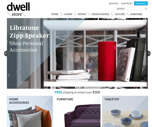 Dwell Store homepage