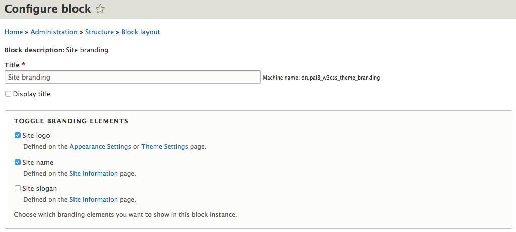 drupal themes settings