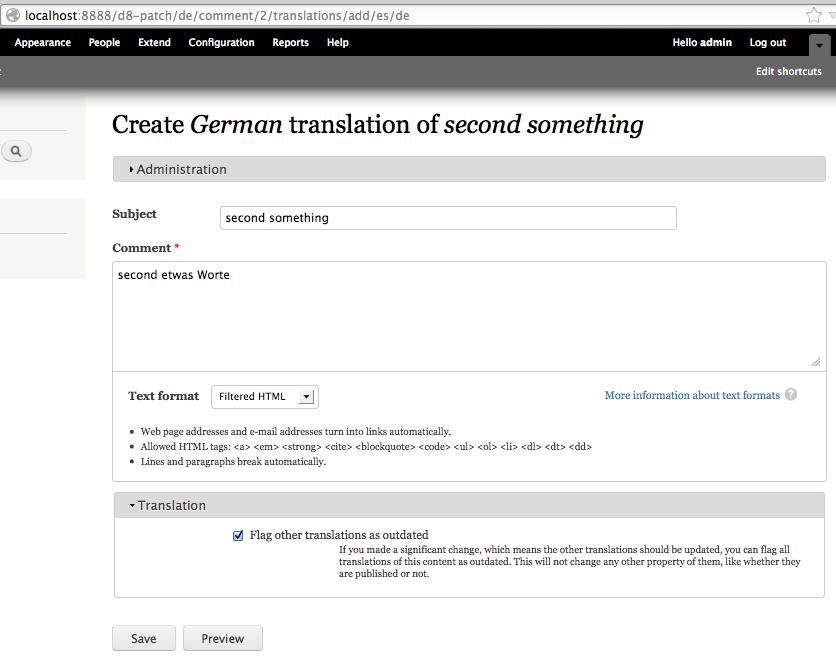 Entity translation UI in core [#1188388]   Drupal org
