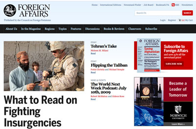 Foreign Affairs home page