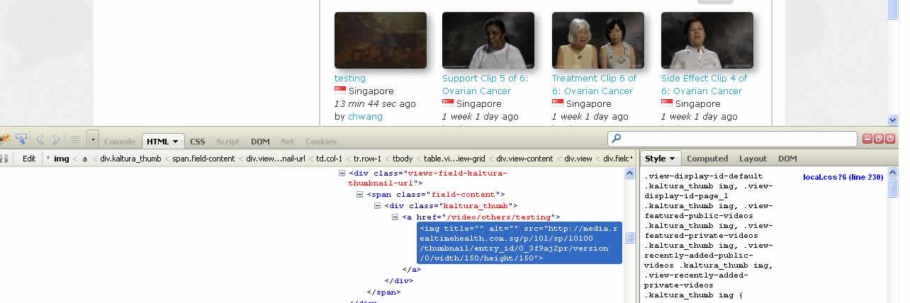 Kaltura media node Rotate Thumbnails for Video Items not