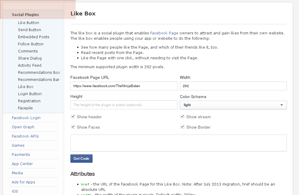 fb likebox ninja baking bug
