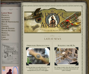 The Vintage Aviator - Front page, on release, May 2008