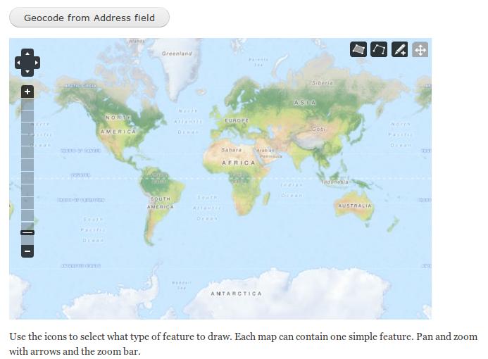 Add optional geocoding to map input widget [#1627940