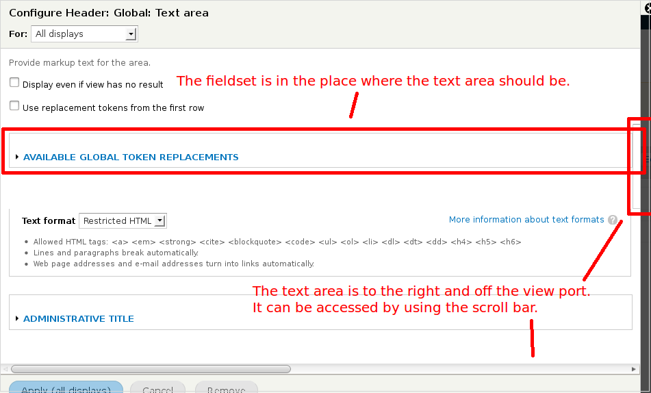 how to fix textarea size in css