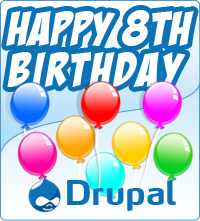 Happy 8th Birthday Drupal