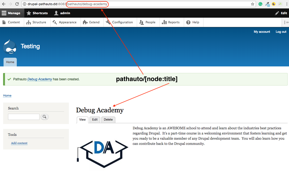 Pathauto: generate URL path aliases automatically | Drupal org