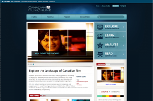 Canadian Film Online screenshot