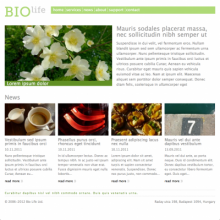 Biolife theme home page