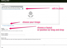 Screenshot of slide editing interface