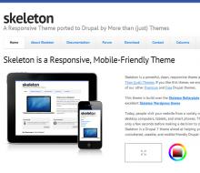 Skeleton - Responsive, Mobile-Friendly Drupal Theme