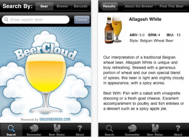BeerCloud on iPhone