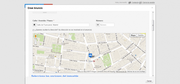 It uses Google maps API and an stardard form.The modal is created using Colorbox