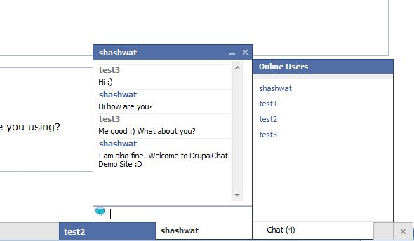 DrupalChat Screenshot