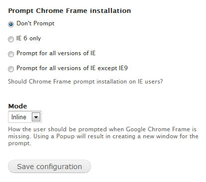 Chrome Frame | Drupal.org