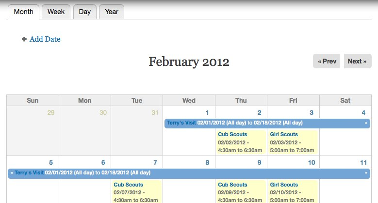 calendar drupal org