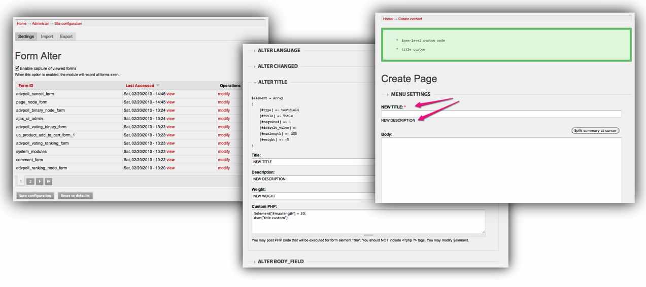 Form Alter UI | Drupal.org