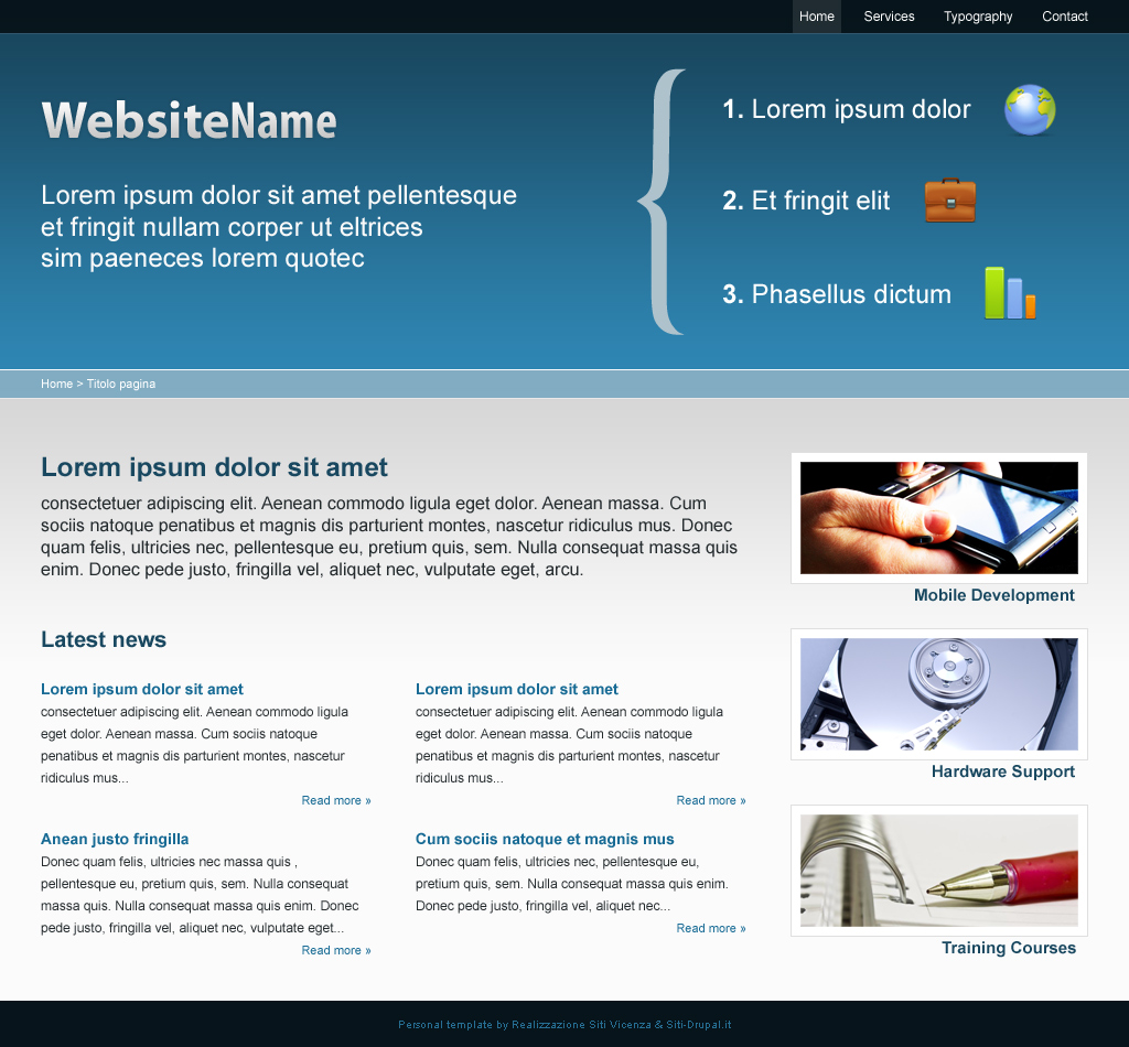 ... Drupal Template is a new free fresh theme from Siti Drupal.it