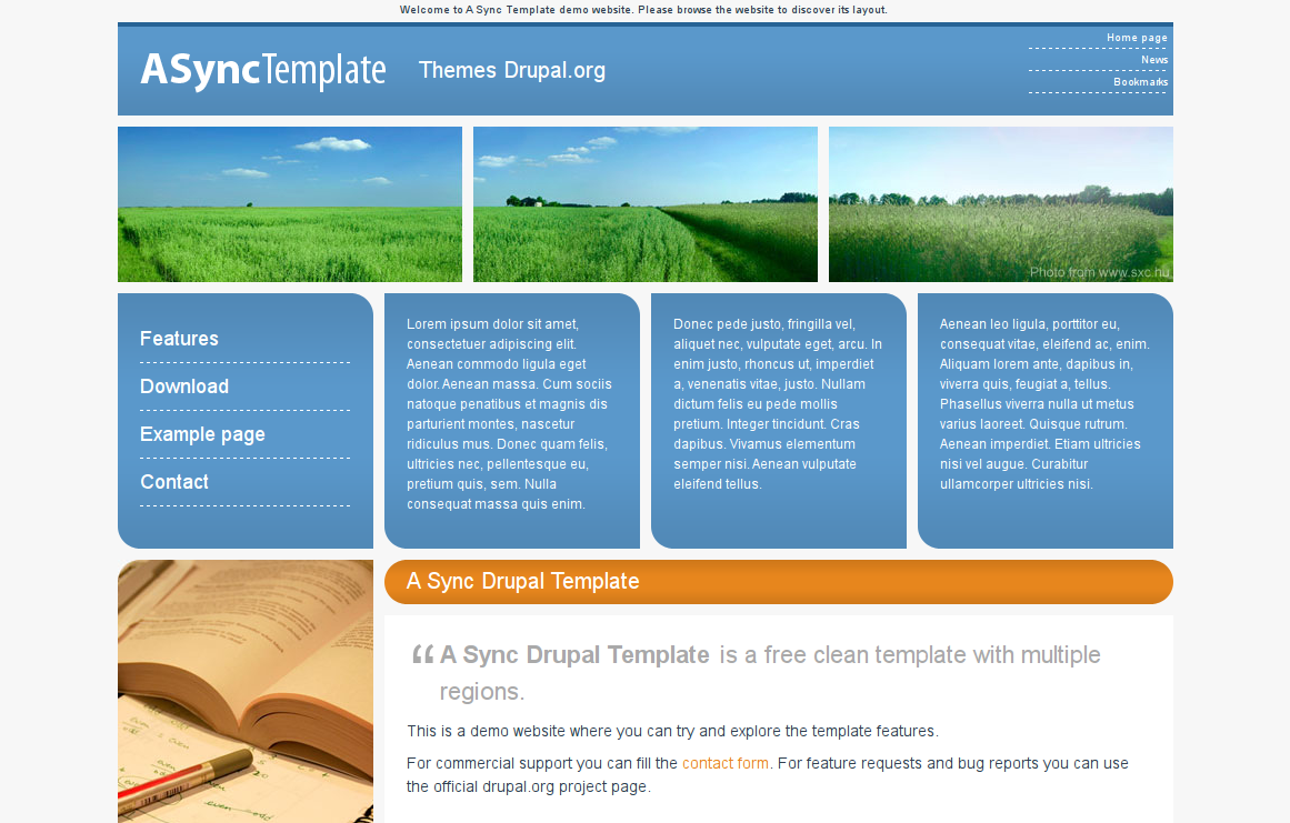 A sync template for Drupal 7 view template
