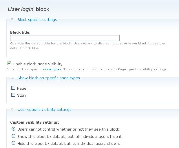 Block Node Visibility
