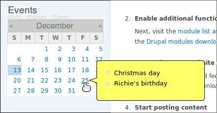 Calendar Tooltips