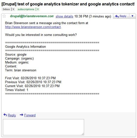 Google Analytics Contact Forml