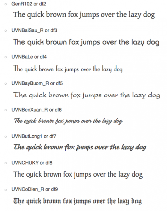 Sample Fonts