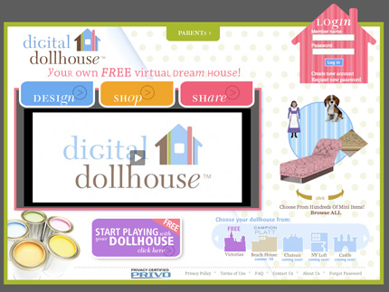 The Digital Dollhouse front page