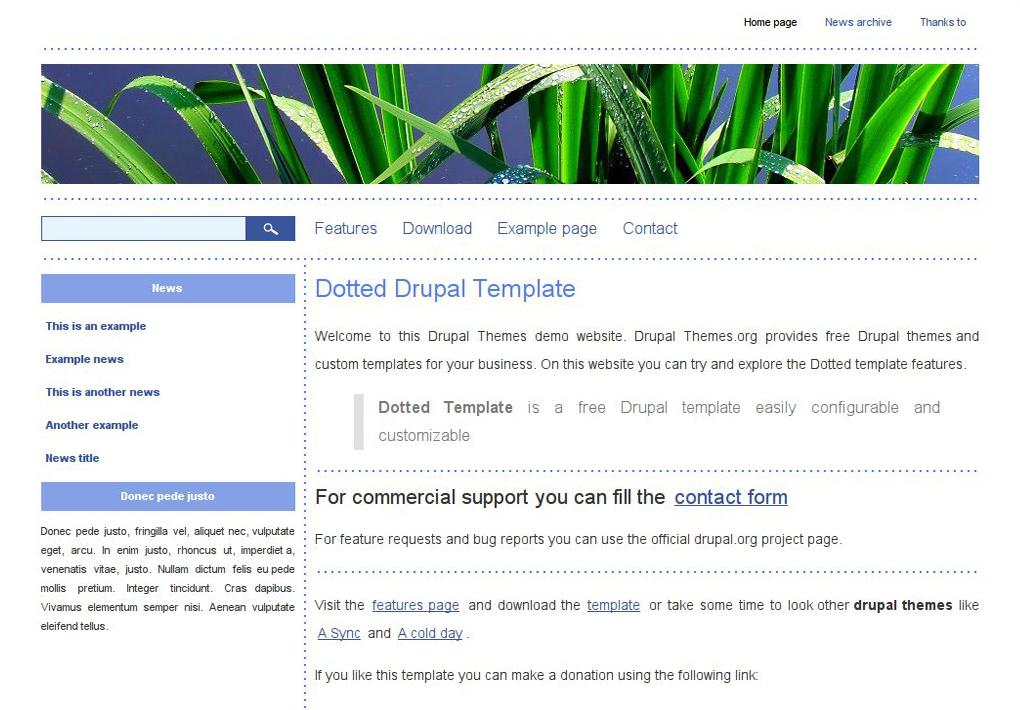 Dotted Drupal Theme  DrupalOrg