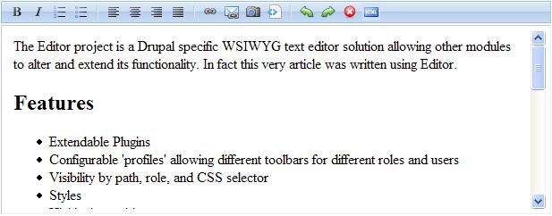 Drupal WYSIWYG Text Editor