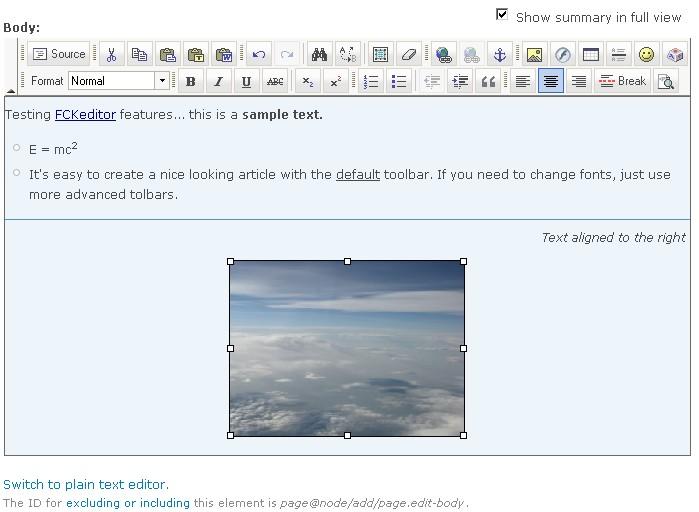 FCKeditor - WYSIWYG HTML editor | Drupal org