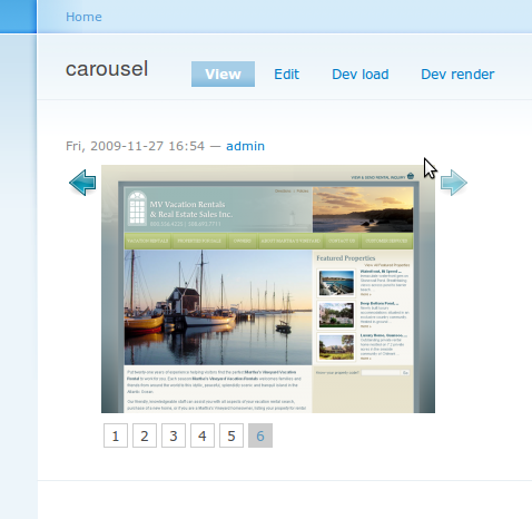 jQuery Carousel default view