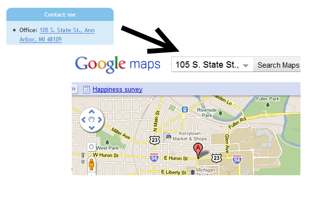 GMap Address Filter