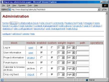 screenshot Drupal 4.1.0