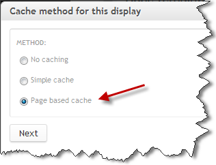 Panels Page Cache