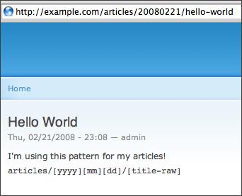 Pathauto の URL 表示例