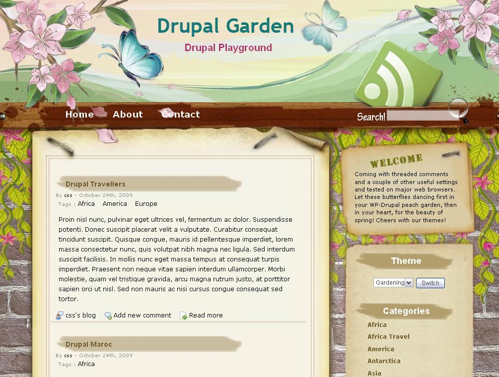 drupal theme garden