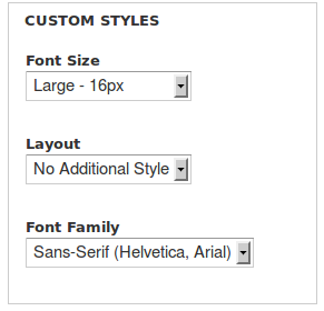 CSS Options | Drupal org