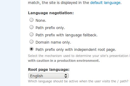 New language negotiation options