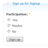 Signup Participation